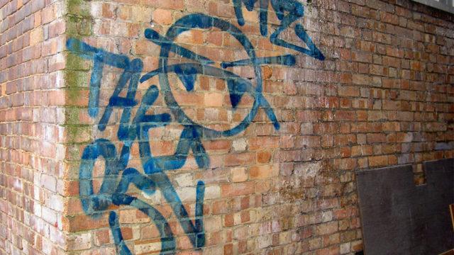 Graffiti cleaning london - before